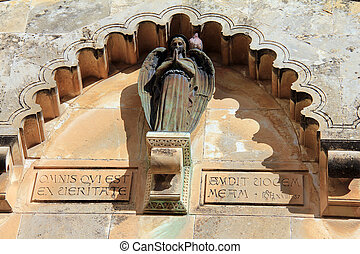 Detail of Church of the Flagellation and the second station...
