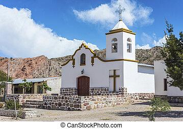 Payogastilla in Salta, Argentina. - Perpetuo Socorro Church...