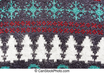 Christmas pattern - Christmas theme pattern on a wool top as...