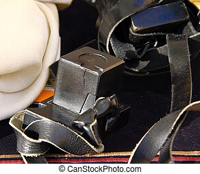 Tefillin - Jewish leather boxes phylacteries. Teffilin are...