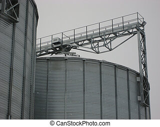grain elevator during harvest