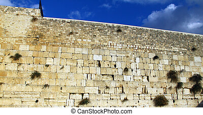 Wailing Wall - Western Wall an important jewish religious...