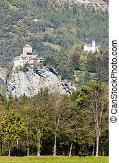 Rhazuns Castle, canton Graubunden, Switzerland