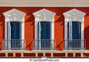 Windows - The Renovated Facade of the Old Spain House