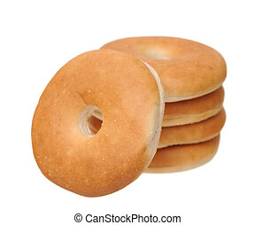 slim bagels isolated on white