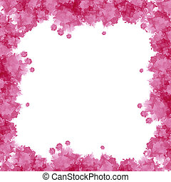 Pink watercolor frame useful for background