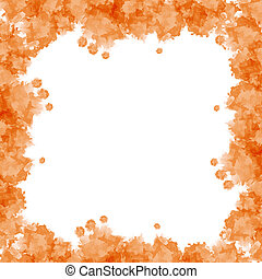 orange watercolor frame useful for background - Orange...