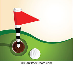 Golfball on green