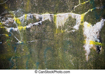 background - a old wall with graffiti in the rain