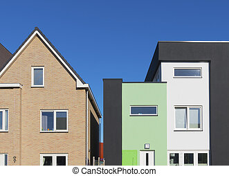 modern houses - modern colorful houses in almere,...