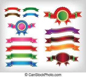 ribbon set, Vector illustration