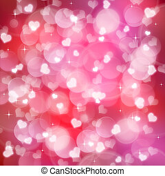 Valentine's day background with  bokeh lights
