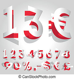 Price Flipping Paper Numbers vector