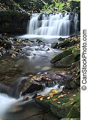 Waterfall on Satina Creek - Water Cascade on Satina Creek in...