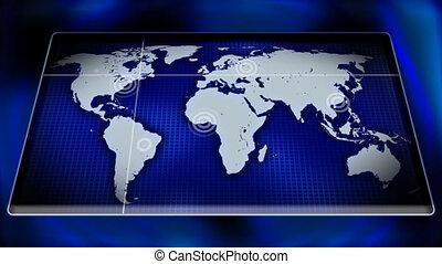 Virtual world map