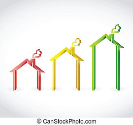 home real estate graph illustration design