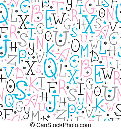 Colorful alphabet letters seamless pattern background -...