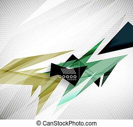 動き, 幾何学的, 形, -, 急速, まっすぐに,...