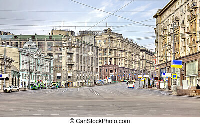 Main street of city Moscow - The prospect of one of the...