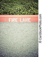 Fire Lane - Curb with Fire Lane painted on