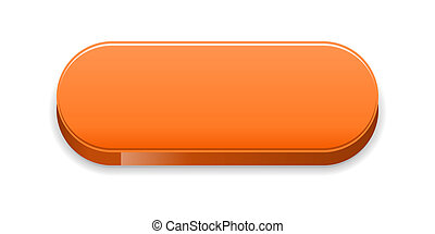 The orange glossy button - The blank orange button ready for...