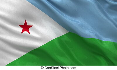 Flag of Djibouti seamless loop