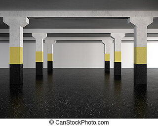 underground parking area