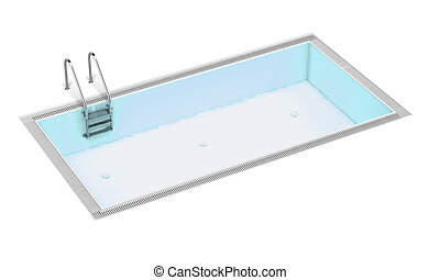 Swimming pool isolated on a white background. 3d render
