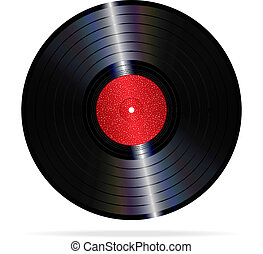 Vinyl record - An illustration of a lp vinyl record.