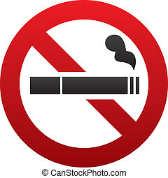 No smoking sign No smoke icon Stop smoking - No smoking sign...