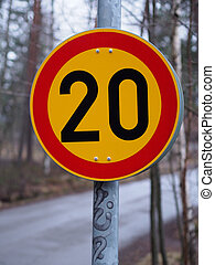 Finnish Speed Limit Sign