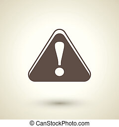 attention sign with exclamation mark icon - retro style...