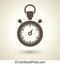 Stopwatch icon - retro style stopwatch icon isolated on...