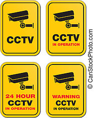 24 hour CCTV in operation signs - suitable for warning signs