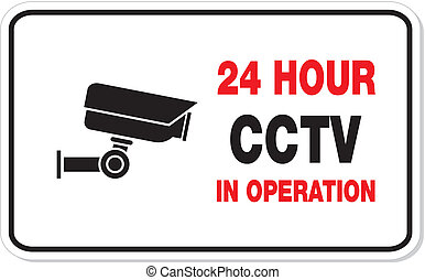 CCTV in operation rectangle sign