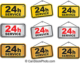 24 hour service - suitable for user interface