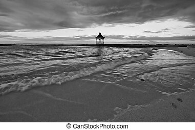 Black and white jamaican beach - Jamaica sunset on the beach...
