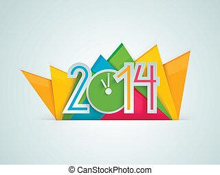 2014 Happy New Year Clock