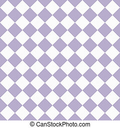 Pale Purple and White Diagonal Checkers Textured Fabric...