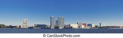 city skyline - skyline of Almere, Netherlands. Almere is the...