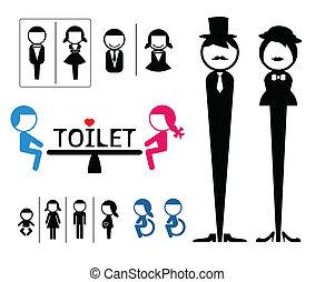 Toilet sign vector