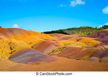 colored earth in Mauritius is a transient color from orange...