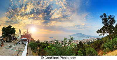 Zakynthos morning panorama - Beautiful panorama taken in the...
