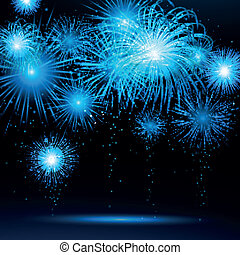 Vector Fireworks - Vector Illustration of Fireworks