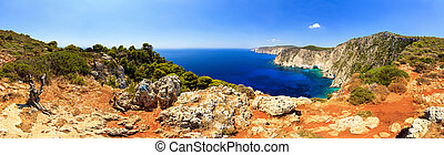 Panorama Cape Keri - Beautiful panorama of the coast at Cape...