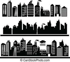 city buildings vector