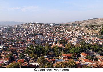 View of Bergama - View of turkish town Bergama, Turkey