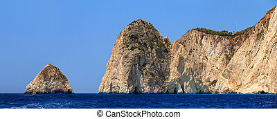 Keri Cliffs - Beautiful panorama from the sea of the steep...