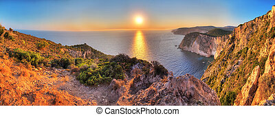 Cape Keri sunset panorama - Beautiful panorama from the top...
