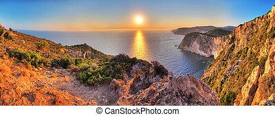 Cape Keri sunset panorama - Beautiful panorama from the top...